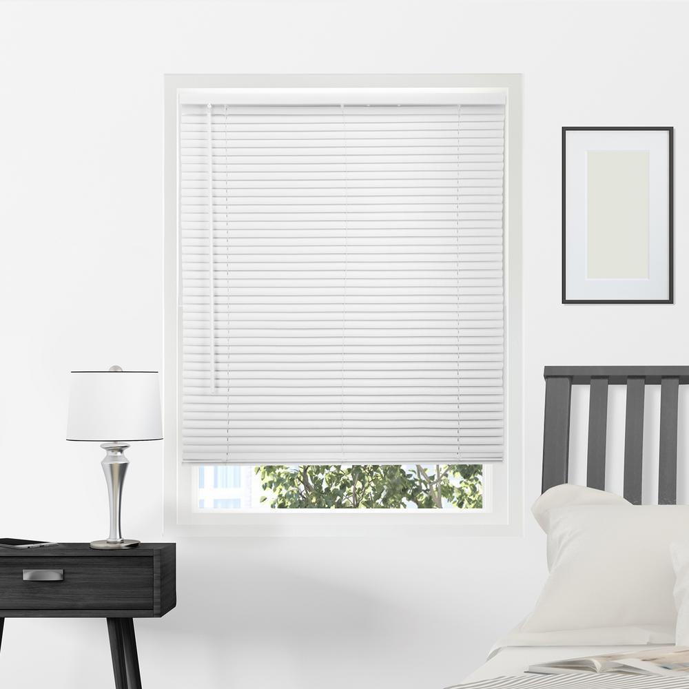 vinyl window blinds beige vinyl mini blind 23 in 64 blinds the home depot