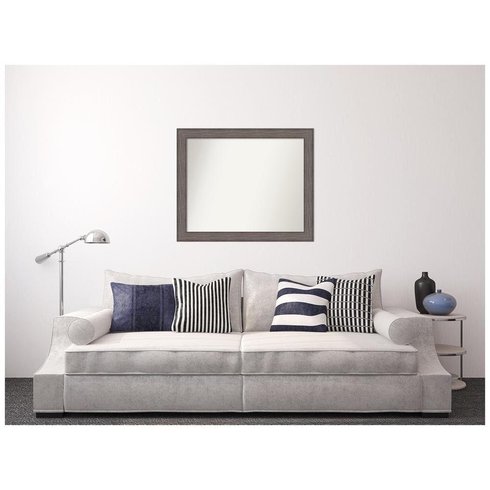 Amanti Art Custom Size 40.25 in. x 33.25 in. Country Barnwood Decorative Wall Mirror was $429.95 now $254.96 (41.0% off)
