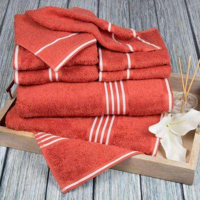 Rio Egyptian Cotton Towel Set in Brick (8-Piece)