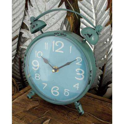 9 in. x 7 in. Multi Alarm-Style Round Table Clocks (Set of 4)