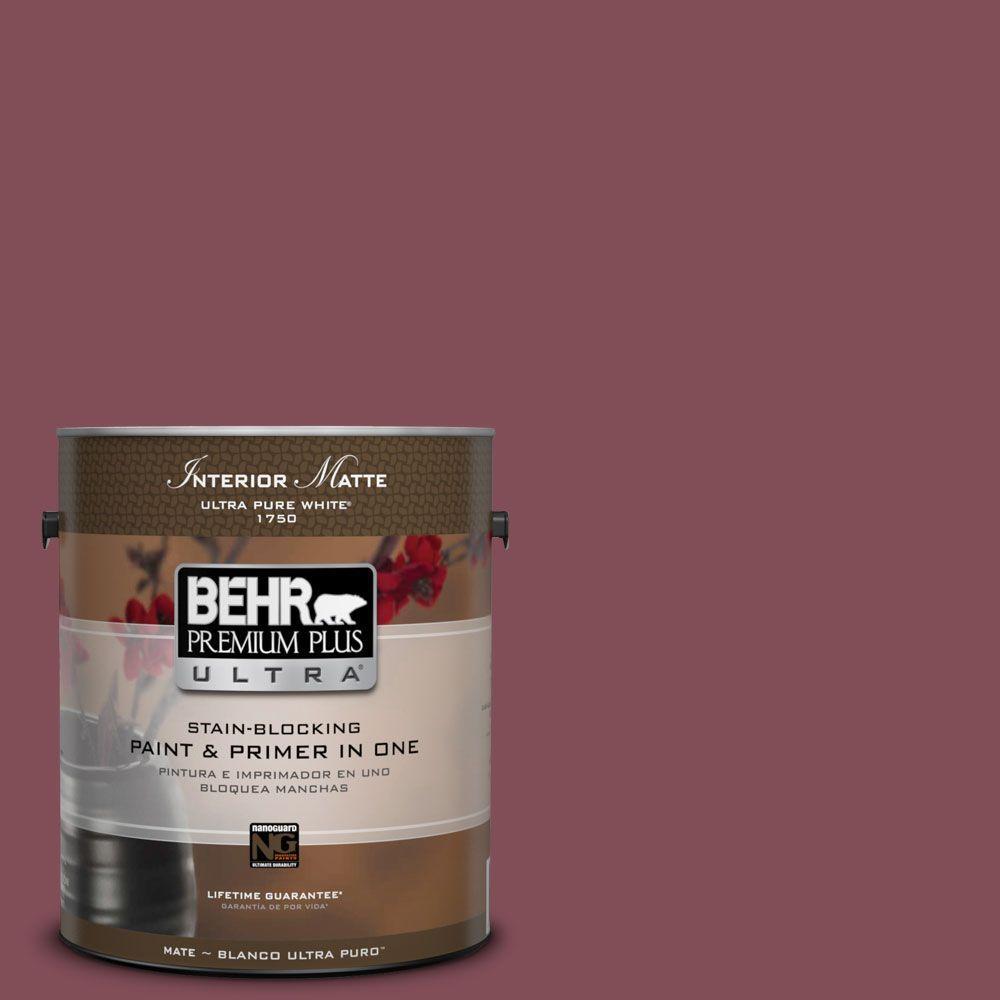 1 gal. #HDC-SP14-11 Rouge Charm Matte Interior Paint