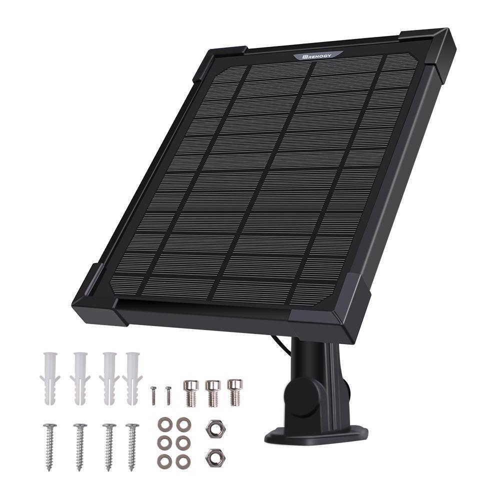 5-Watt Monocrystalline Solar Panel Charger for Ring Camera