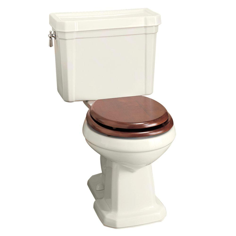Porcher Lutezia 2-Piece Round Toilet in Biscuit-DISCONTINUED