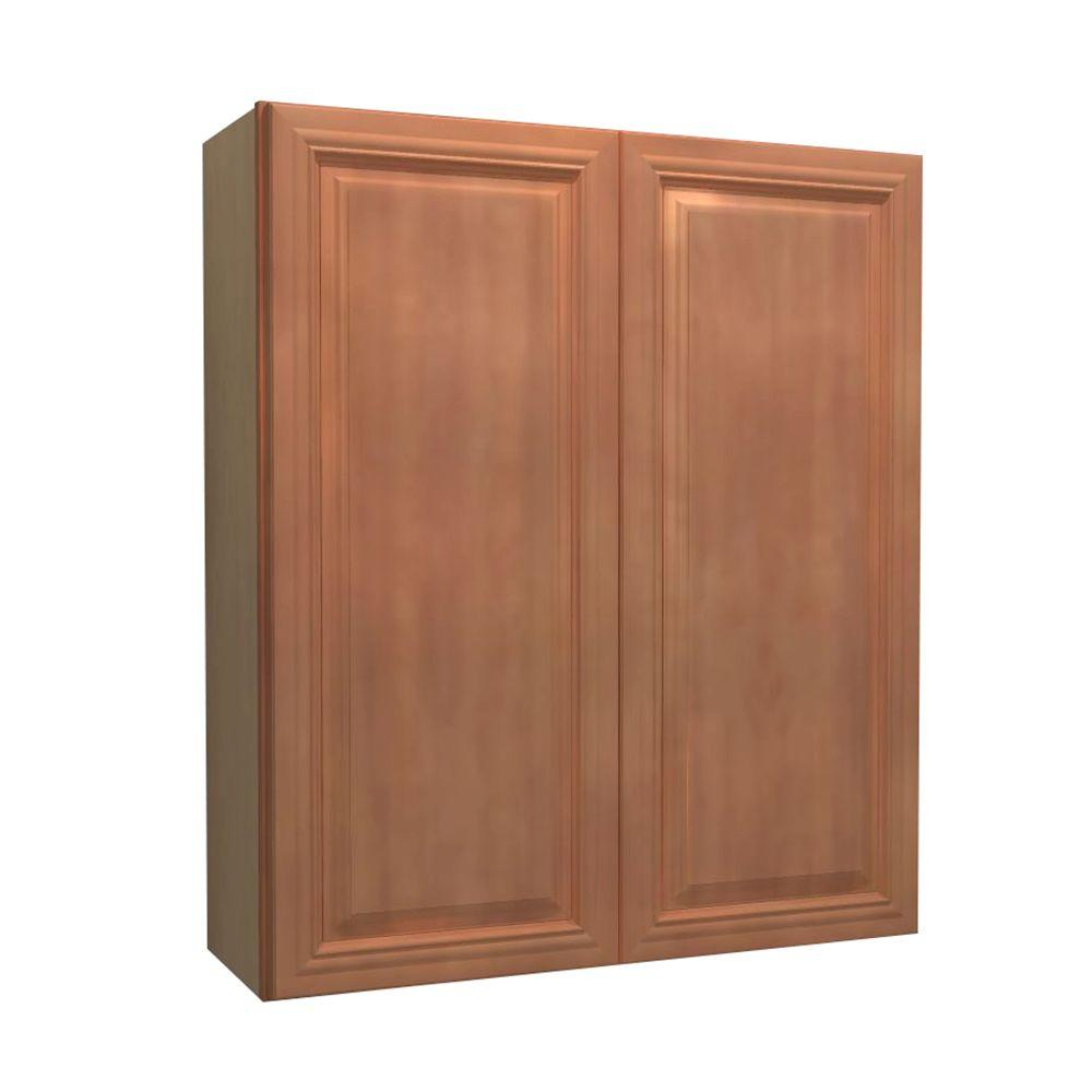 Dartmouth Assembled 27x42x12 in. Double Door Wall Kitchen Cabinet in Cinnamon