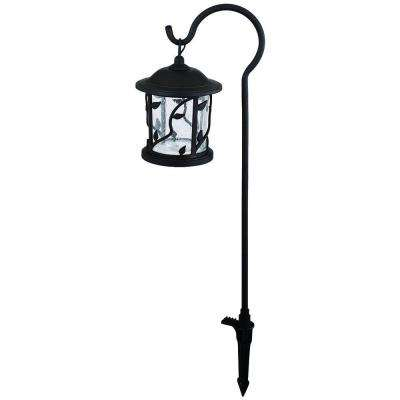 Floral Shepherd Hook Low-Voltage Bronze Outdoor Integrated LED Path Light