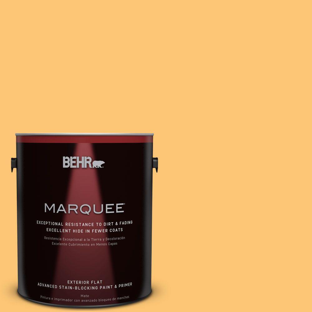 BEHR MARQUEE 1-gal. #BIC-42 Liquid Gold Flat Exterior Paint
