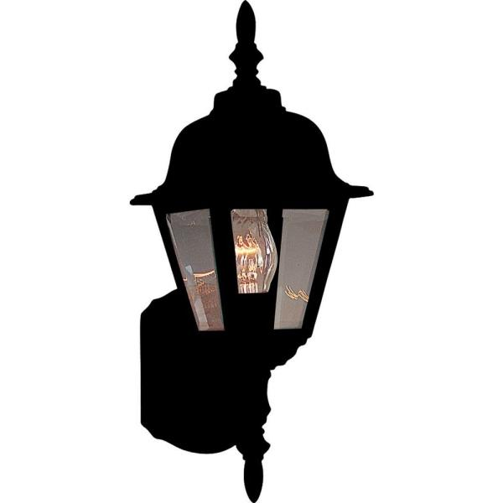 Builder Cast 1-Light Black Outdoor Wall Lantern Sconce