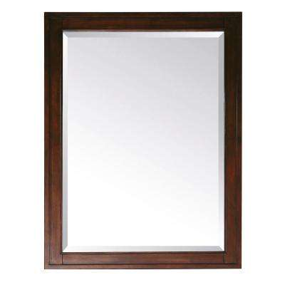 Madison 32 in. L x 24 in. W Framed Mirror in Tobacco