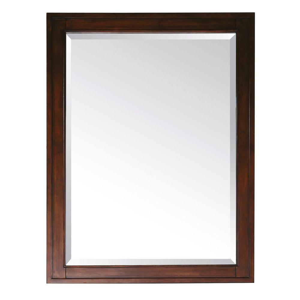 Avanity Madison 32 in. L x 24 in. W Framed Mirror in Tobacco