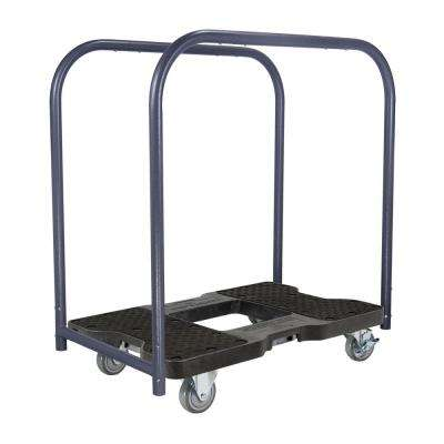 1,500 lb. Capacity Industrial Stength Professional E-Track Panel Cart Dolly in Black