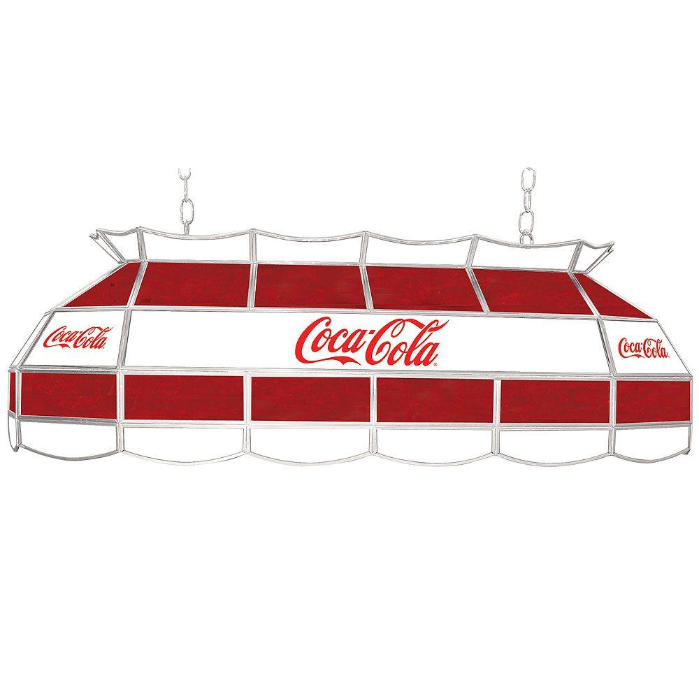 Trademark Coca Cola 40 in. Stained Glass Hanging Tiffany Lamp