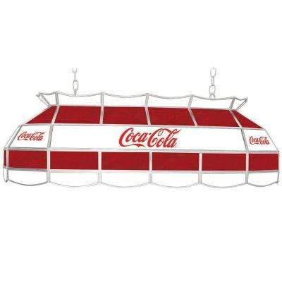Coca Cola 40 in. Stained Glass Hanging Tiffany Lamp