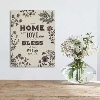 Home Love Laughter and Beer Wall Art