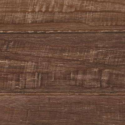 Take Home Sample - Hand Scraped Strand Woven Sandbrook Click Bamboo Flooring - 5 in. x 7 in.