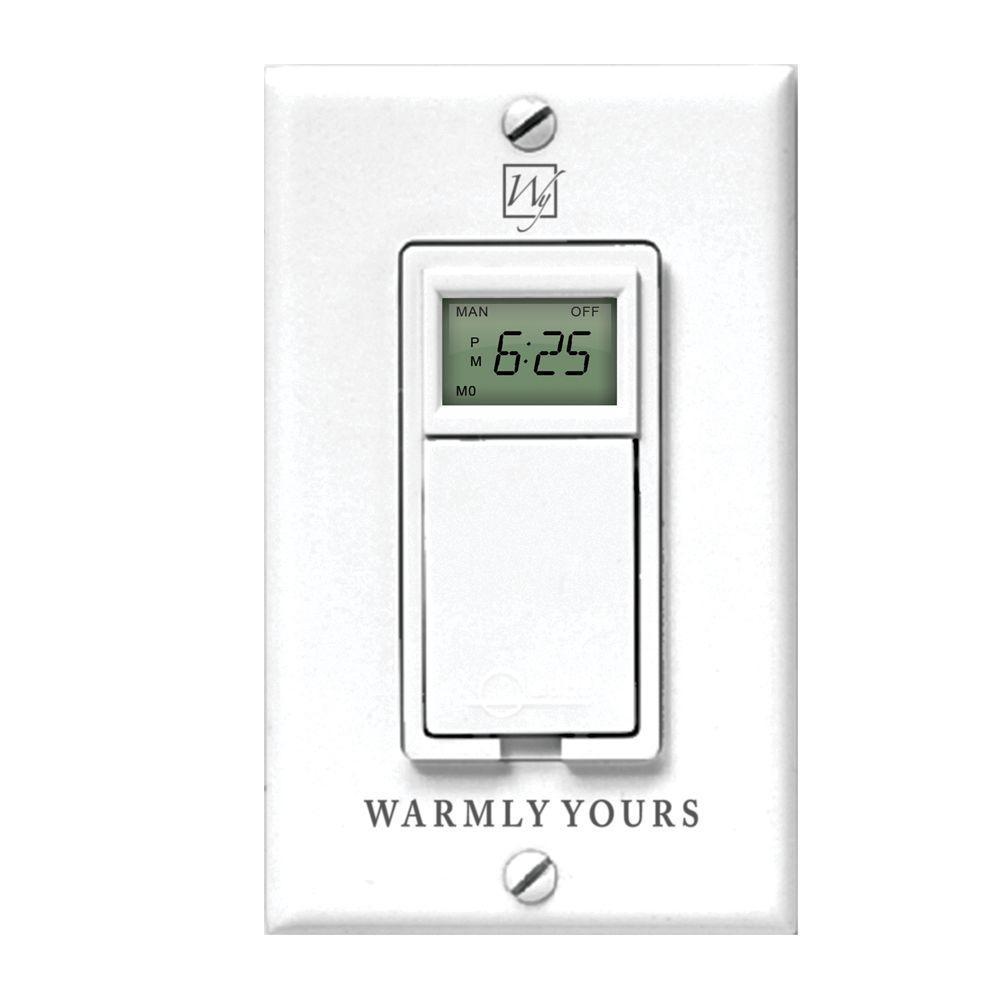 WarmlyYours 120-Volt Timer Floor Warming Control