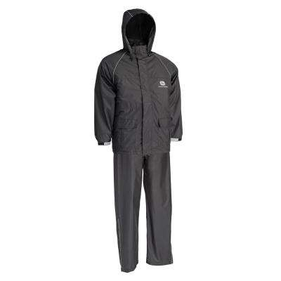Black Lightweight 2 Piece Rain Suit Size X-Large