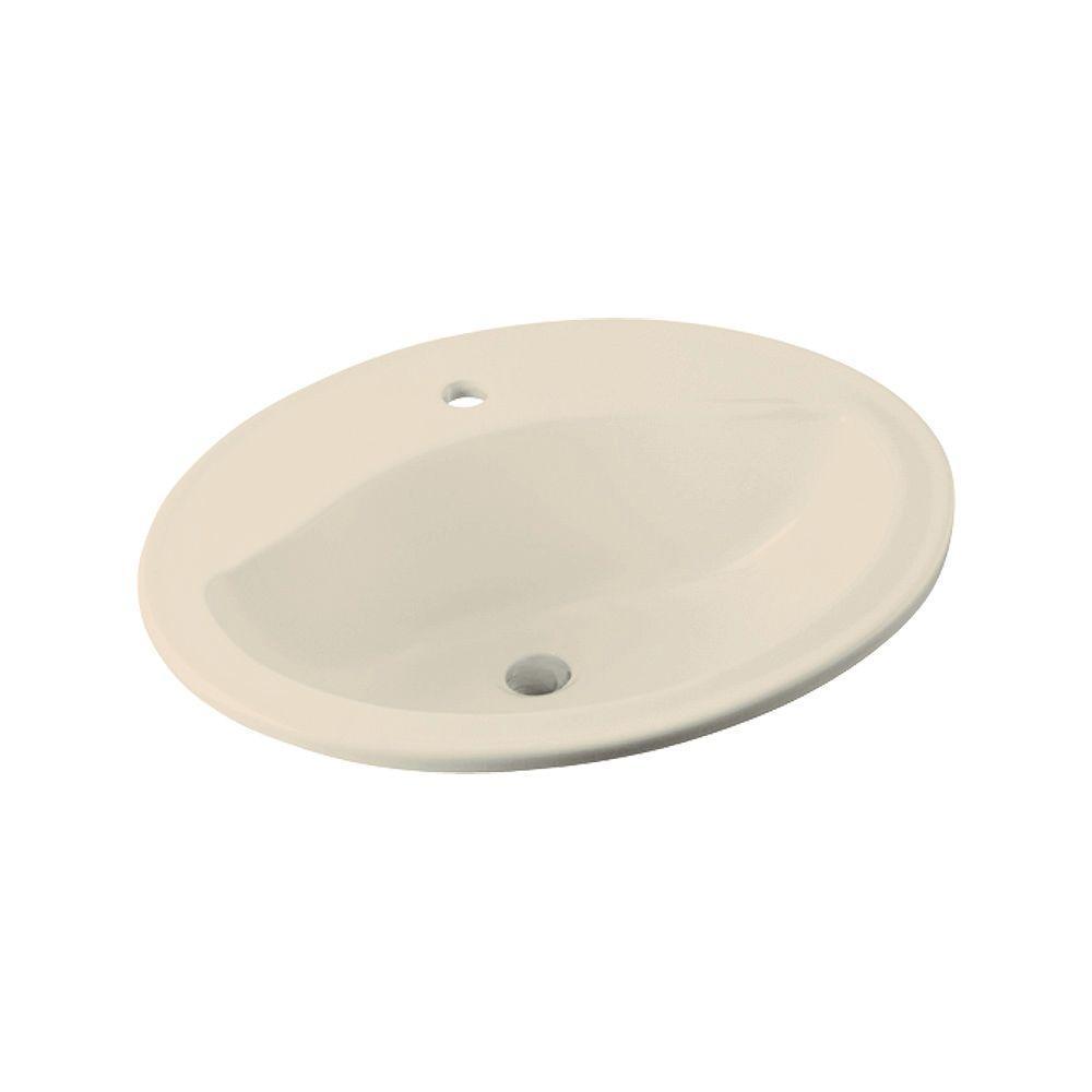 STERLING Sanibel Drop-in Bathroom Sink in Almond