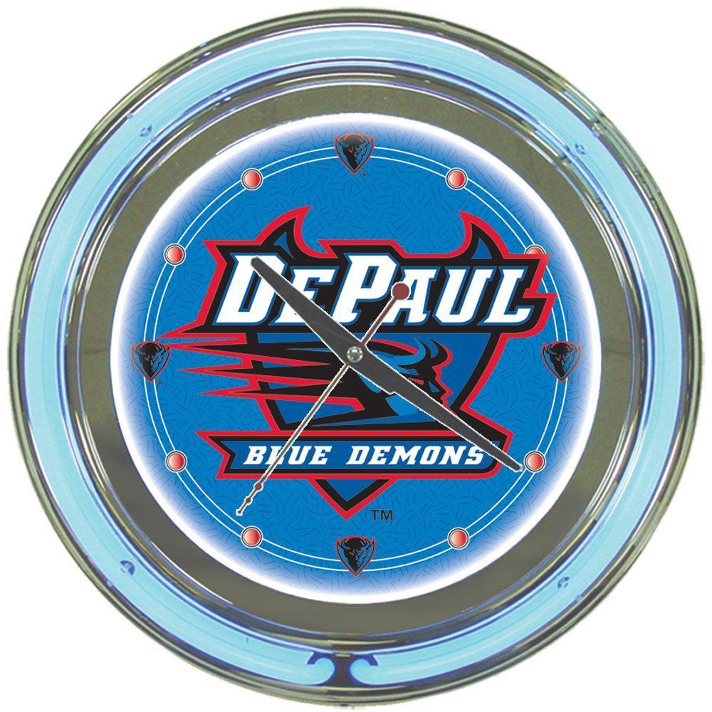 Trademark 14 in. DePaul University Neon Wall Clock
