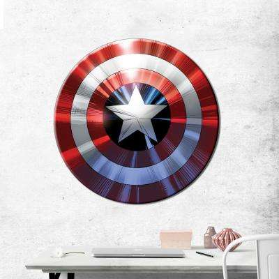 "27 in. round ""Captain America - Shield"" Printed Canvas Wall Art"