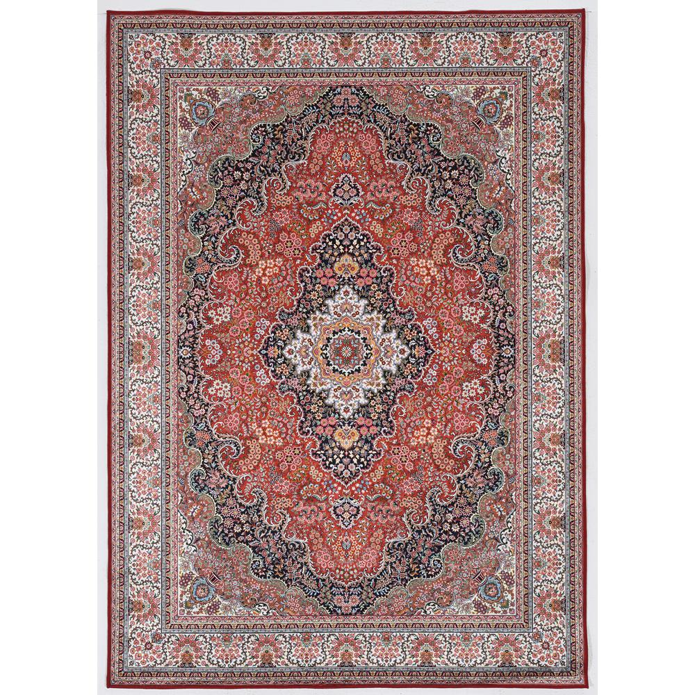 Echelon Bourke Red/Ivory 6 ft. 7 in. x 9 ft. 7 in. Area Rug