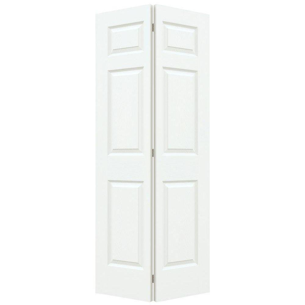 Colonial Primed Textured Molded Composite MDF Closet Bi-  sc 1 st  The Home Depot & 30 in. x 80 in. Colonial Primed Textured Molded Composite MDF Closet ...