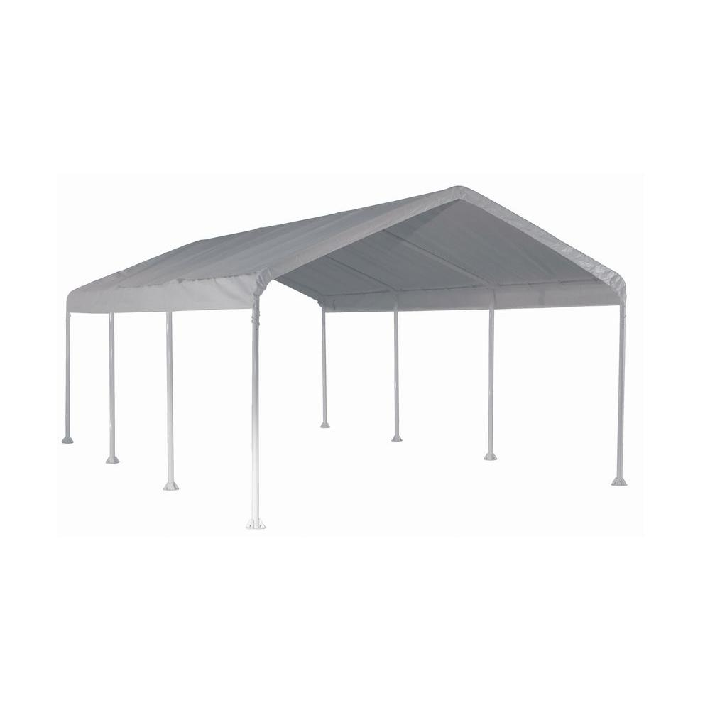 ShelterLogic Super Max 12 ft. x 20 ft. White Premium Canopy  sc 1 st  The Home Depot & ShelterLogic Super Max 12 ft. x 20 ft. White Premium Canopy-25773 ...
