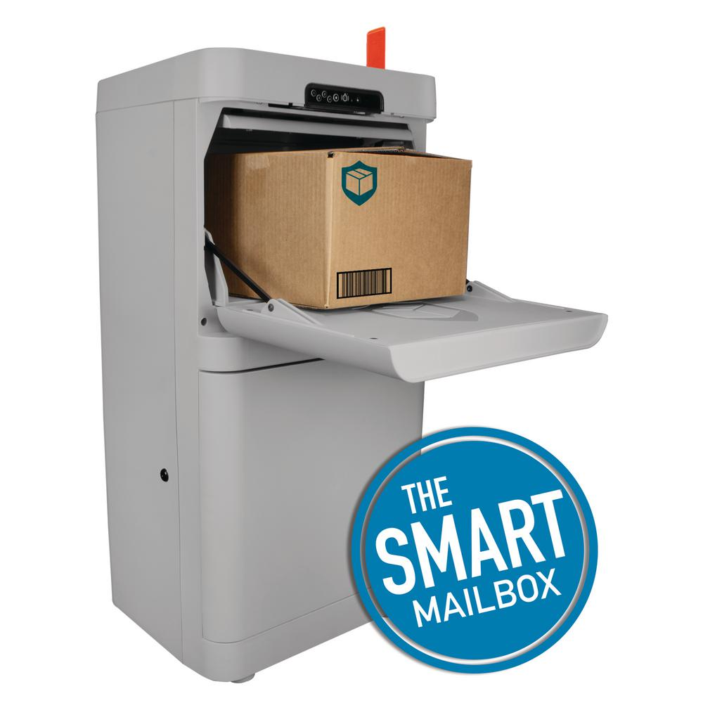 DANBY PARCEL GUARD Gray Floor Mount Smart Parcel Security Mailbox