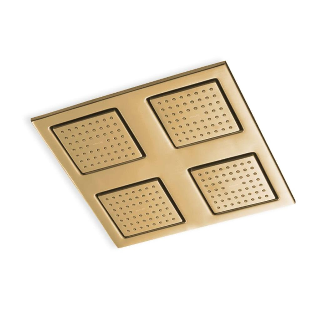 KOHLER WaterTile Rain 9 7/8 in. 1-Spray 54-Nozzle Overhead Showering Panel in Vibrant Brushed Bronze-DISCONTINUED