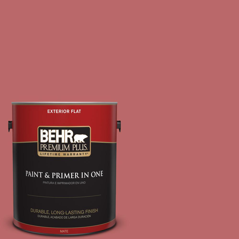 BEHR Premium Plus 1 gal. #MQ1-11 Drama Queen Flat Exterior Paint and ...