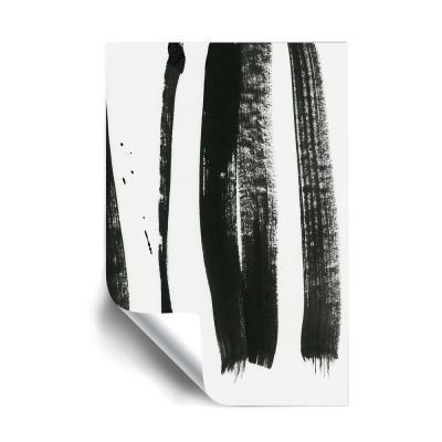 Black on white 3 Removable Wall Mural