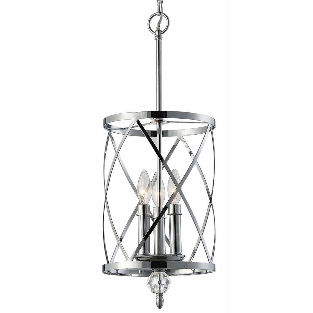 CANARM Vanessa 3-Light Chrome Chandelier