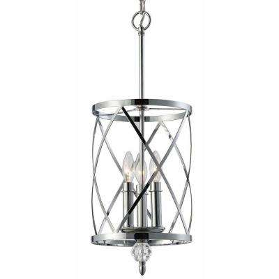 Vanessa 3-Light Chrome Chandelier