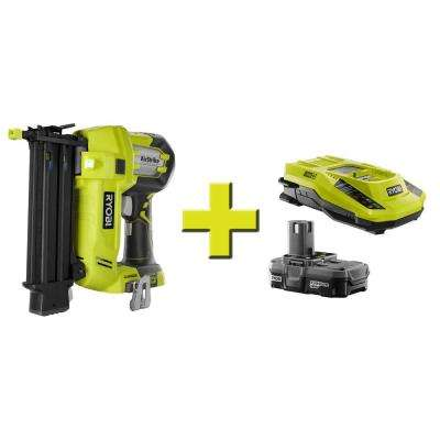 18-Volt ONE+ AirStrike 18-Gauge Cordless Brad Nailer and Lithium Upgrade Kit