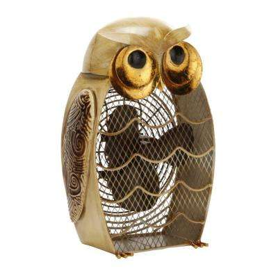7 in. Figurine Fan-Snow Owl