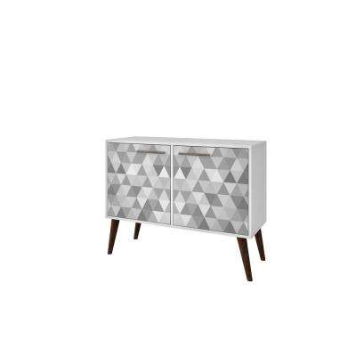 Avesta 3.0 White and Grey Geometric Side Table