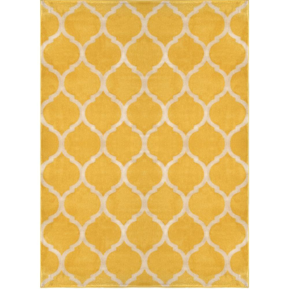 Home Dynamix Antiqua Yellow/Cream 5 ft. 2 in. x 7 ft. 2 in. Indoor Area Rug
