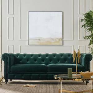 Amazing Jennnifer Taylor Home Winston Forest Green Tufted Onthecornerstone Fun Painted Chair Ideas Images Onthecornerstoneorg