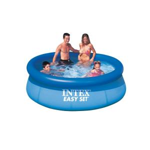 920db52cbaadb Intex Easy Set 12 ft. Round x 30 in. Deep Inflatable Pool with 330 ...