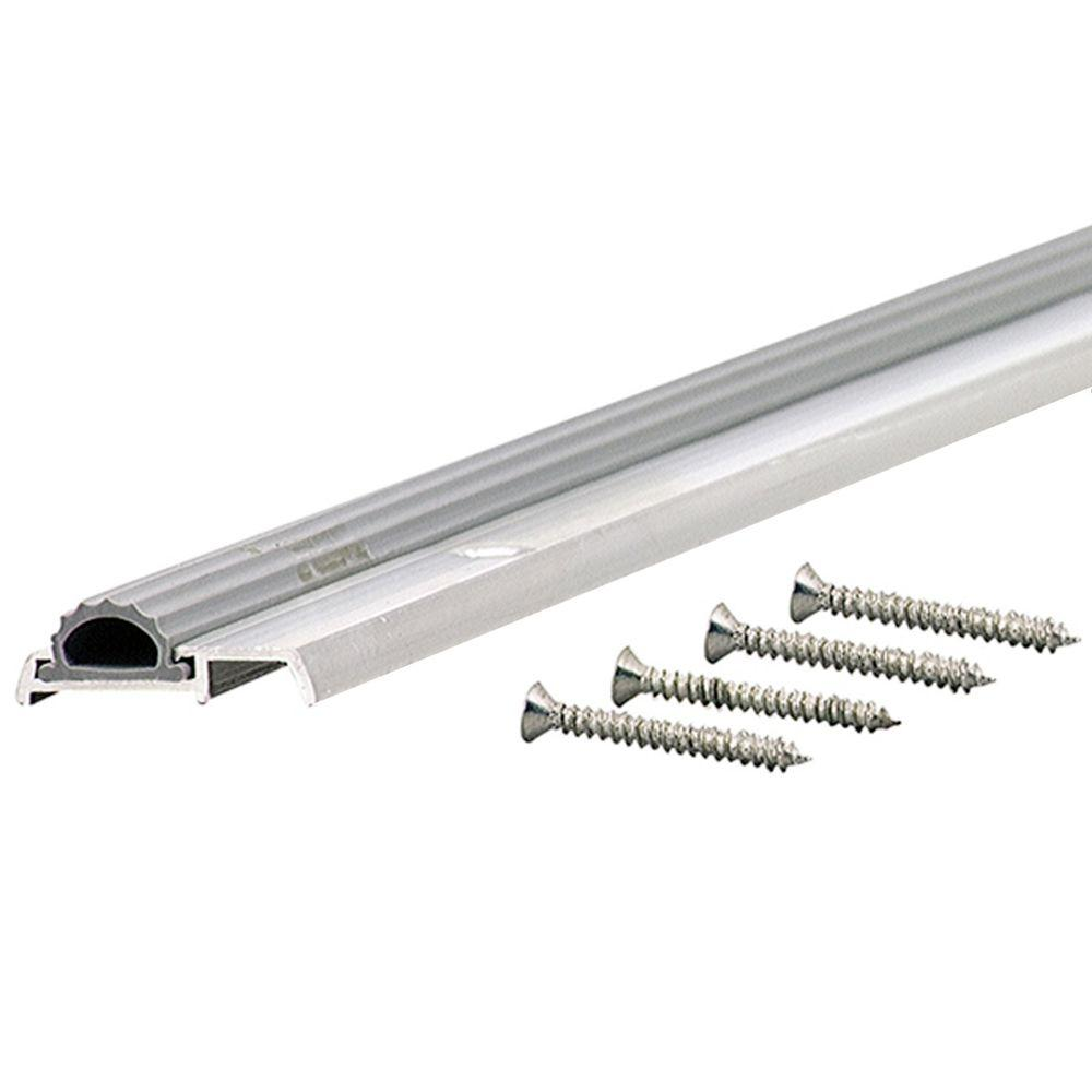 M-D Building Products Low Mini 1-3/8 in. x 65 in. Aluminum Threshold with Vinyl Seal