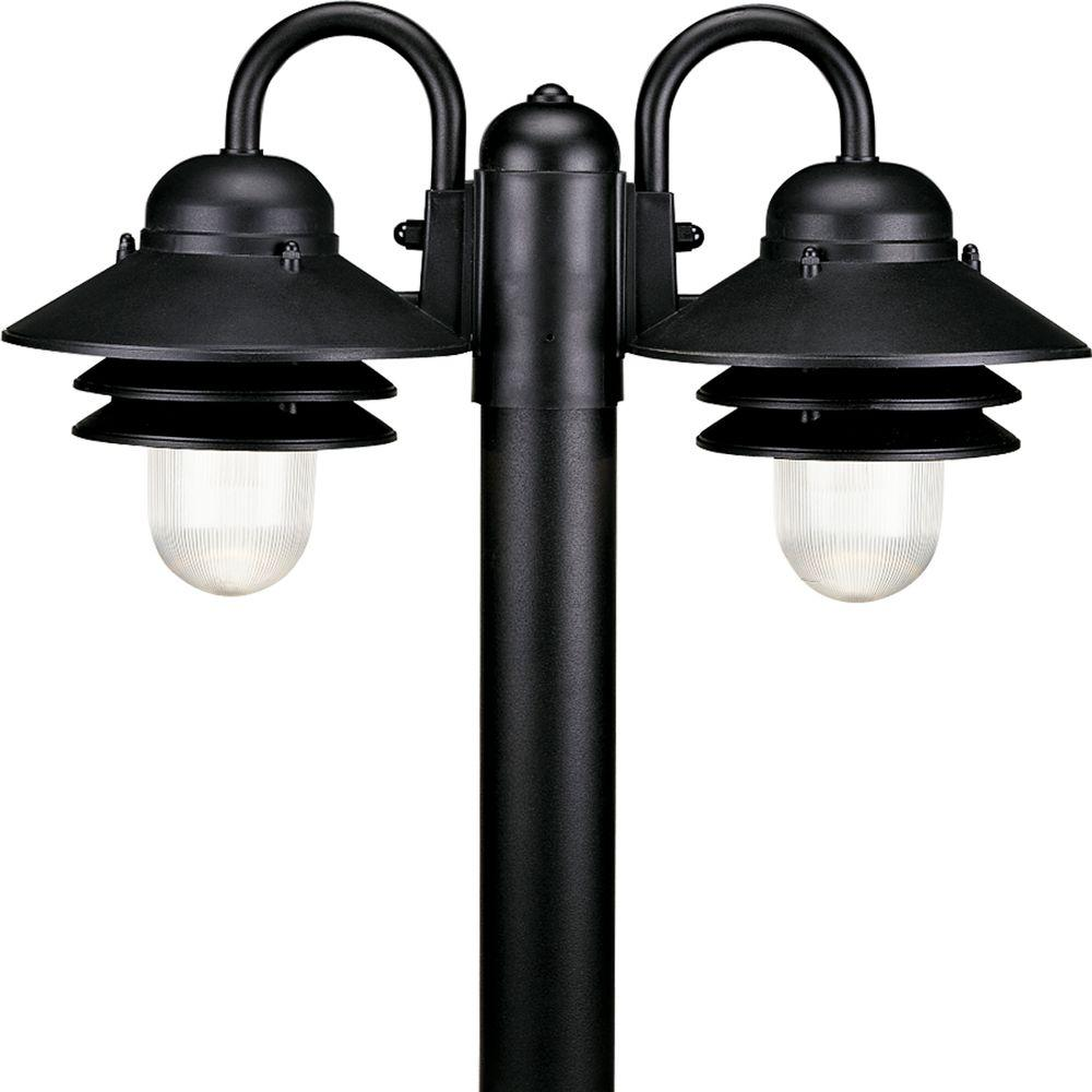 Progress lighting newport collection 2 light outdoor textured black progress lighting newport collection 2 light outdoor textured black post lantern aloadofball Gallery