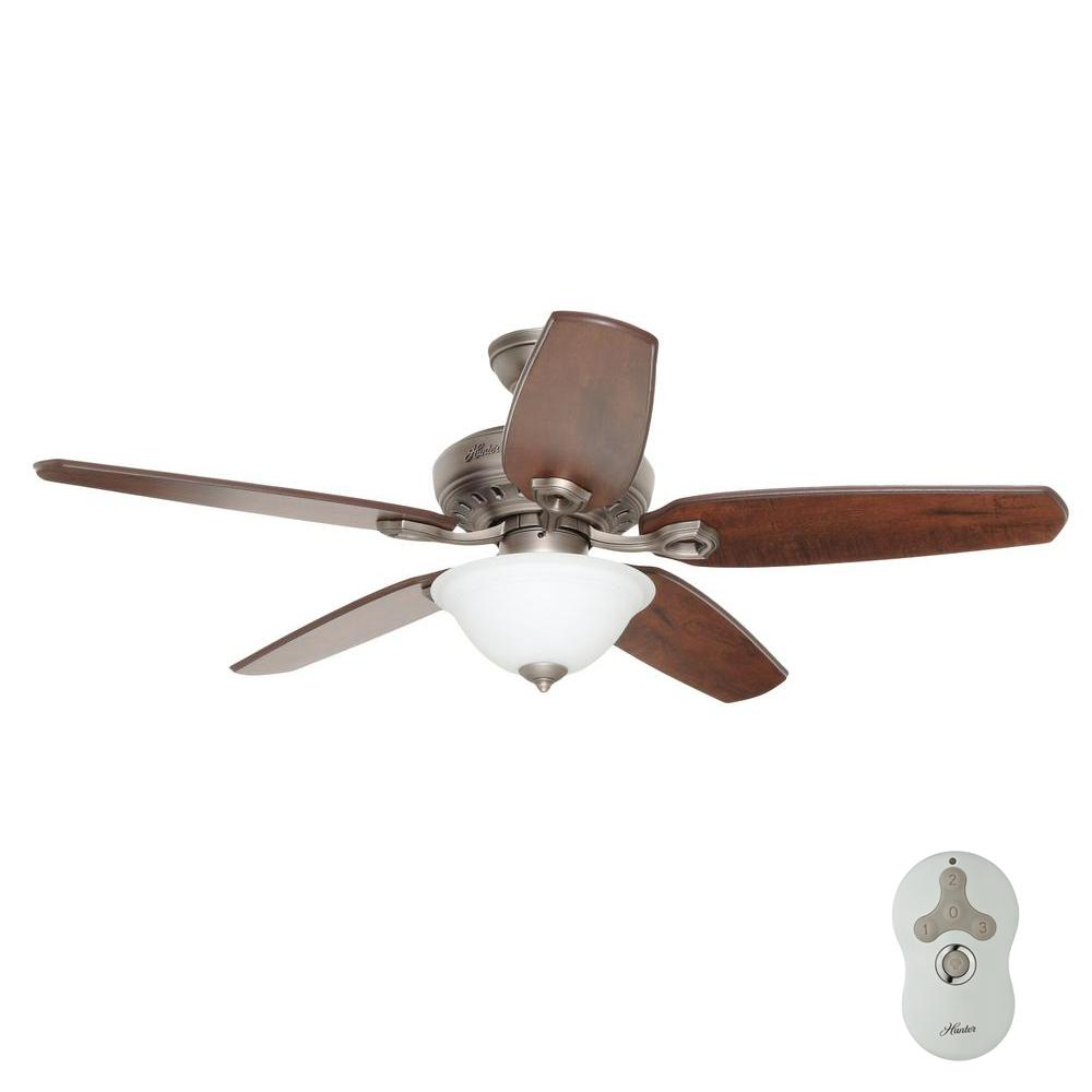 Hunter fairhaven 52 in antique pewter indoor ceiling fan with light hunter fairhaven 52 in antique pewter indoor ceiling fan with light kit and remote mozeypictures Choice Image