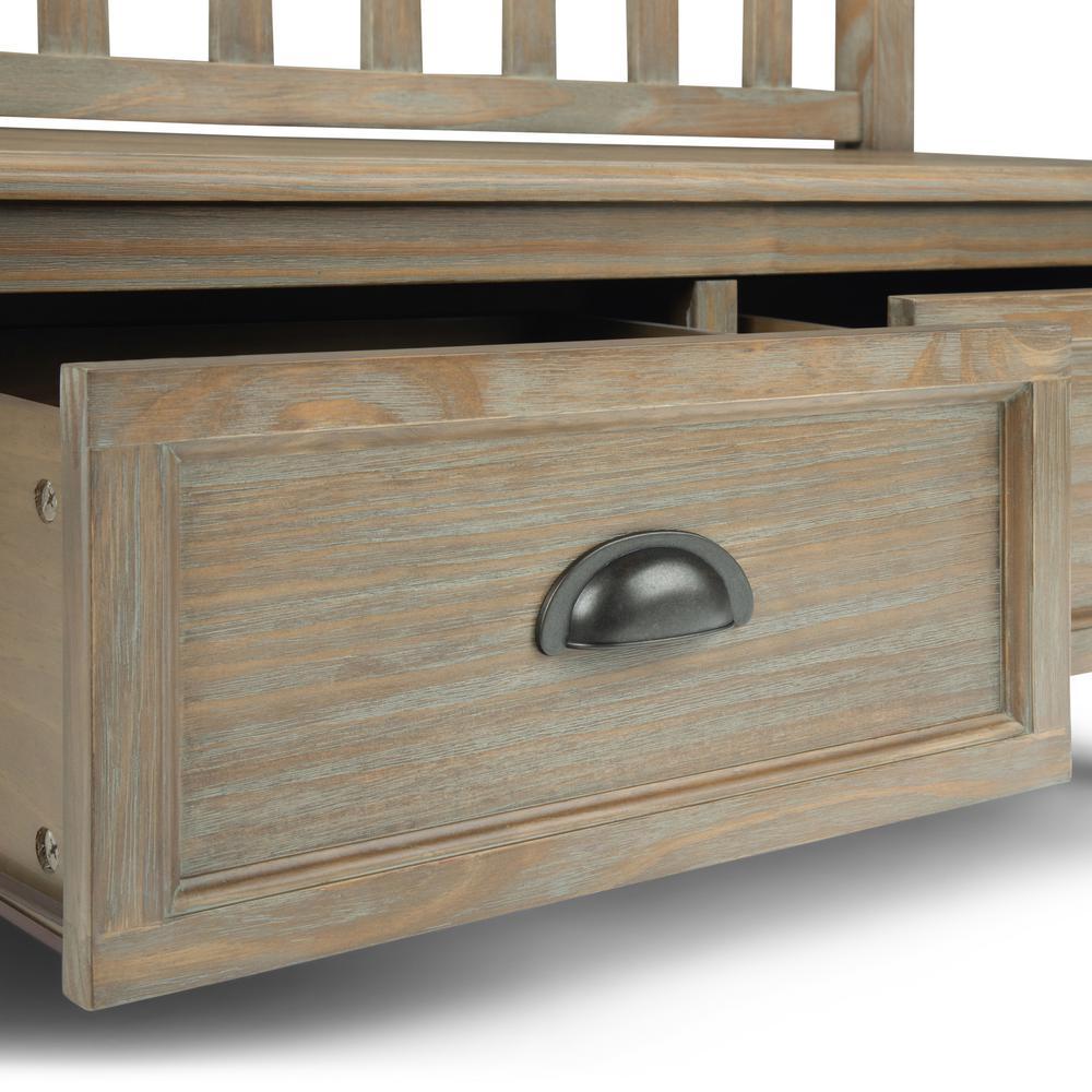 Super Simpli Home 42 In Burlington Distressed Grey Solid Wood Machost Co Dining Chair Design Ideas Machostcouk