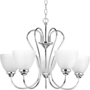 Progress Lighting Heart Collection 5-Light Chandelier (Polished Chrome)