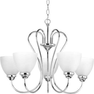 Heart Collection 5-Light Polished Chrome Chandelier