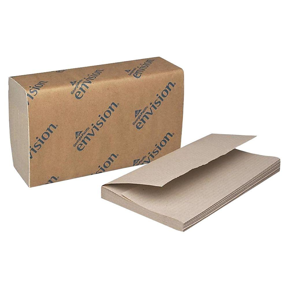 Envision Brown Single-Fold Paper Towels (4000 Sheets)