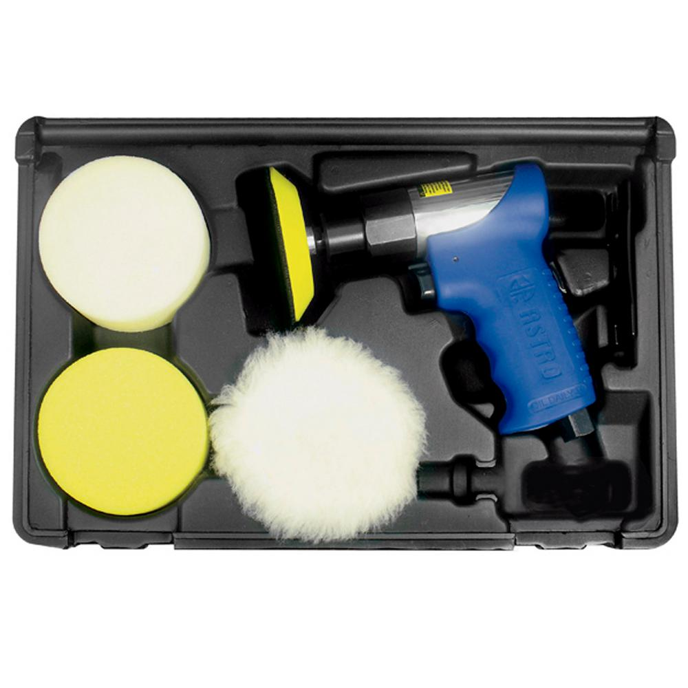 """Astro 3/"""" Variable Speed Polisher// Sander// Accessory Kit w// 2 Batteries #3027"""