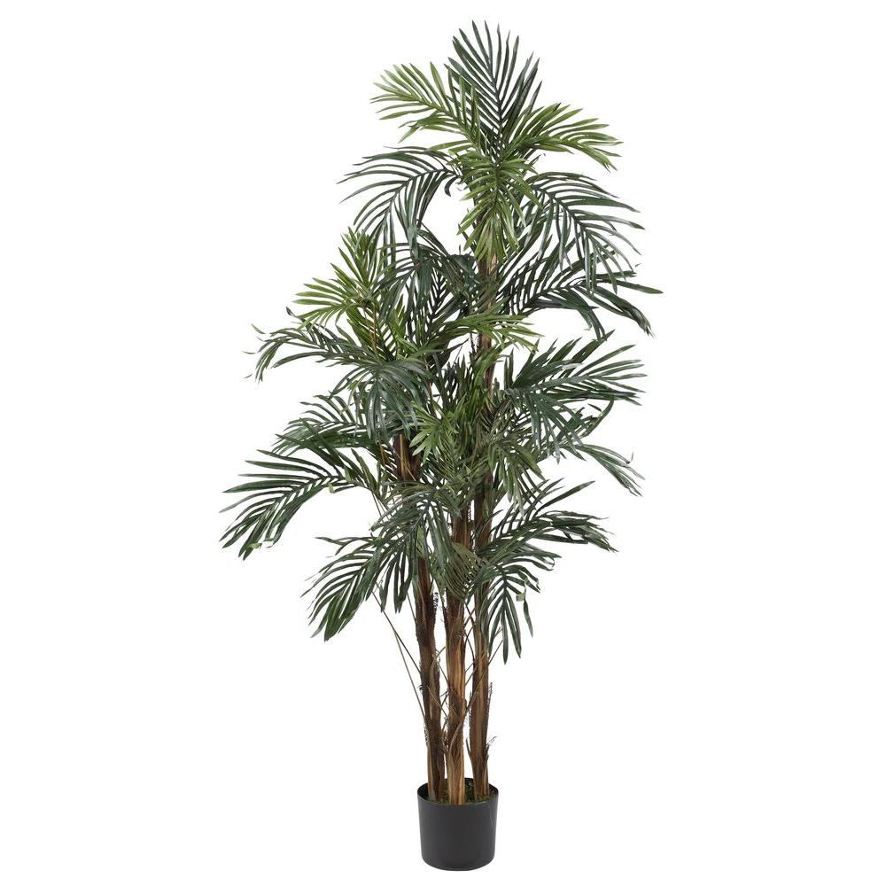 Nearly Natural 5 ft. Robellini Palm Silk Tree