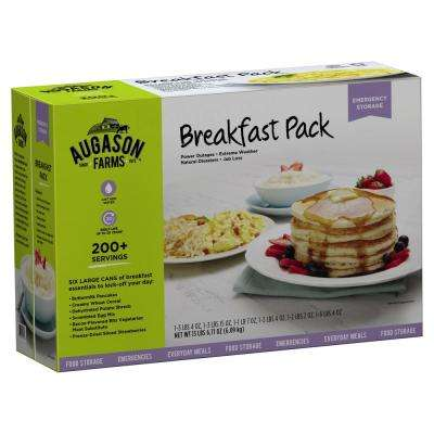 Breakfast Variety Pack Emergency Food Supply 6 Large Cans 30 Year Shelf Life