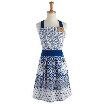 Blue Tunisia Printed Apron