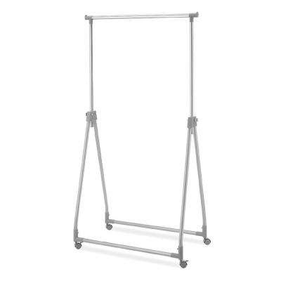 Silver Metal Clothes Rack (35 in. W x 66 in. H)